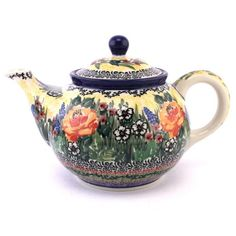 Is this a teapot or a piece of art? :) See more #PolishPottery at http://slavicapottery.com