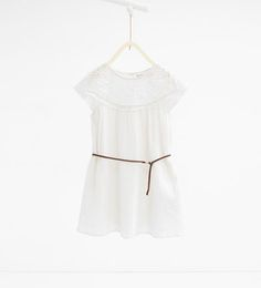 Dress with crochet yoke and belt-View All-DRESSES AND JUMPSUITS-GIRL   4-14 years-KIDS   ZARA United States