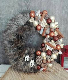 Christmas Advent Wreath, Christmas Crafts, Christmas Decorations, Xmas, Holiday Fun, Holiday Decor, Christmas Planning, Diy Wreath, Flower Designs