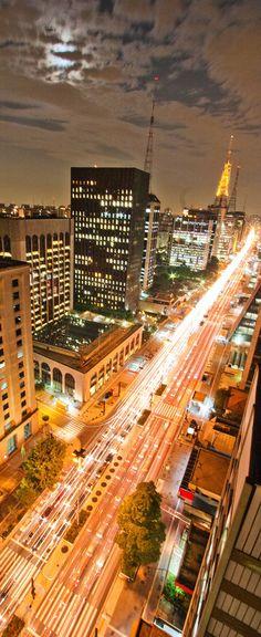 Avenida Paulista, São Paulo, Brazil ☆☆☆ Uma das avenidas mais bonitas e imponentes do meu país. É também um símbolo da minha cidade. ☆☆☆ One of the most beautiful and stately avenues of my country, Brazil. It is also a symbol of my city, São Paulo.