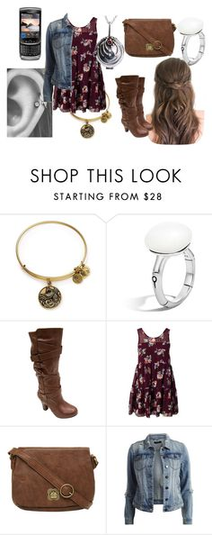 """""""Remi Gilbert #20"""" by sophie-l-marshall ❤ liked on Polyvore featuring Alex and Ani, John Hardy, Madden Girl, Glamorous, Nica, VILA and CO"""