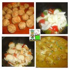 RECETAS DEL SUR: Albondigas en salsa con guisantes