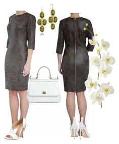 Olive & White by tubino-skirts-dresses on Polyvore featuring polyvore, fashion, style, Gianvito Rossi, Francesco Russo, Dolce&Gabbana, Tacori, Pier 1 Imports and clothing