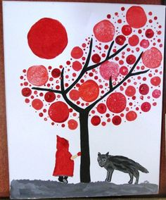 Risultati immagini per arbre art plastique ecole maternelle Little Red Ridding Hood, Red Riding Hood, Art Mat, Wolf, Ecole Art, Art Club, Art Journal Pages, Art Plastique, Funny Art