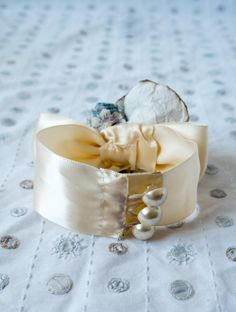 Handmade wrist corsage SVCS101 by LittleSilverSixpence on Etsy