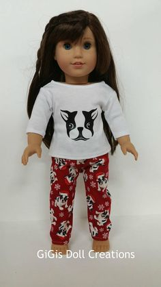 """Stripe Heart Cupcake Shirt 18/"""" Doll Clothes Fits American Girl S"""