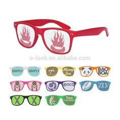 Custom pinhole lens logo wayfarers promotional sunglasses