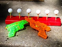 Summer fun – knock ping pong balls off golf tees with water guns. Summer fun – knock ping pong balls off golf tees with water guns. Kids Crafts, Projects For Kids, Party Crafts, Summer Activities, Craft Activities, Camping Activities, Mutual Activities, Outdoor Activities, Outdoor Games Adults