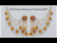 How To Make Devasena Champaswaralu At Home||Ear To Hair Accessories - YouTube