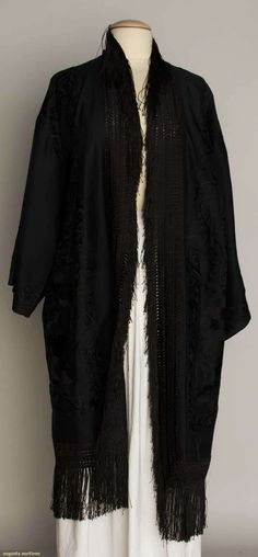 Embroidered Black Export Coat, 1930s, Augusta Auctions, November 13, 2013 - NYC