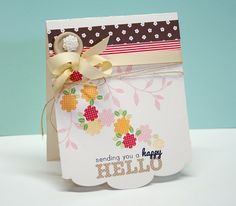 A Happy Hello Card by Danielle Flanders for Papertrey Ink (March 2013)