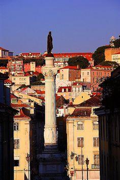 Lisboa, Rossio, estátua de Dom Pedro IV, Portugal