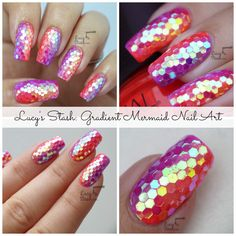 Disco nails for young person