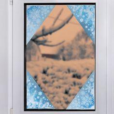 Frosty Glitter Corner Window Clings (8)