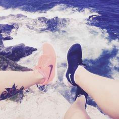 We love our nikes #activewear #active #nikewomens #nike #beachwalks #fit #fitnessmotivation #bonditobronte #bondi #beach #ocean #positivevibes #shoes @becme_ow by tammyleegirlvswild http://ift.tt/1KBxVYg