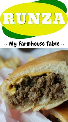 Runzas Recipe, Copycat Recipes, Beirocks Recipe, Beef Dishes, Food Dishes, Barbecue Pork Ribs, Recipes, Kitchens, Ground Beef Recipes