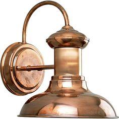 Progress Lighting Brookside Collection 1-Light Copper Wall Lantern