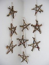 Cute for a rustic X-mas tree or even on a string of white lights in the garden.
