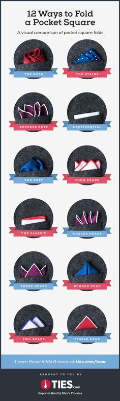 Fold A Pocket Square 12 Different Ways