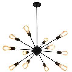 Sputnik Chandeliers 12 Lights Modern Pendant Lighting Industrial Vintage Ceiling Light Fixture, Black Walnut Tree Chandeliers, Sputnik Chandelier, Modern Chandelier, Modern Lighting, Industrial Pendant Lights, Modern Pendant Light, Pendant Lighting, Ceiling Light Fixtures, Ceiling Lights