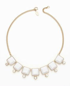 Faceted Square Short Necklace