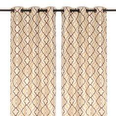 Marrakech Tan Curtain Panel Set, 108 in. | Kirklands
