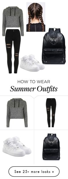 """""""My First Polyvore Outfit"""" by sandra-garcia-5 on Polyvore featuring Topshop and NIKE"""