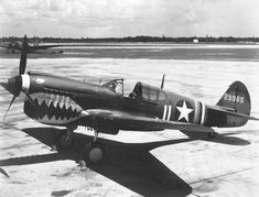 The Flying Tigers - American Volunteer Group, flew P-40s over China