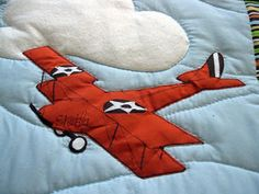 Running With Scissors: Mom Feature: Airplane Applique Quilt