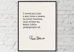 Charles Bukowski Quote Bukowski Love Quote Art by MondayMoonDesign