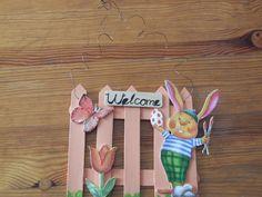 napi kreatív: Üdvözlő ajtódísz spatulából és dekorgumiból
