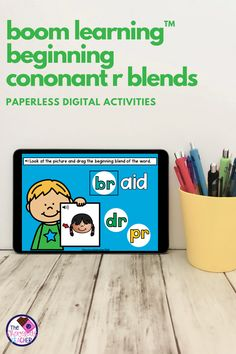 Are you teaching initial consonant blends and are looking for an engaging activity to use? This BOOM Learning digital task card set practices beginning R Blends. This set has 3 different activities that are worksheet free and perfect for kindergarten, first grade, or second grade students! These cards are SELF-CORRECTING, which saves teachers time. Teachers can view reports of their students' progress. Use these for ELA centers, homework, or distance learning! {1st grade, 2nd grade} Teaching Phonics, Phonics Activities, Educational Activities, First Grade Phonics, Consonant Blends, Task Cards, Second Grade, Homework, Distance