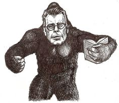 Stephen King Kong - Famous Writers Reimagined As Puns -- Artist Timothy Taranto's illustrations of authors are absolutely punderful