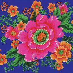 Kitsch Kitchen Oilcloth (140cm wide) - Lotus