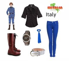 Italy! In the 2013 Hetalia Calendar, Italy wears an outfit similar to the one that I put together.