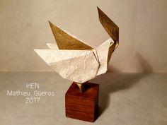 Origami Hen by Mathieu Gueros Origami