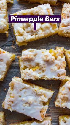 Pineapple Dessert Recipes, Pineapple Cookies, Mexican Dessert Recipes, Summer Dessert Recipes, Easy Dessert Bars, Fun Desserts, Easy Homemade Desserts, Irish Desserts, Coconut Desserts