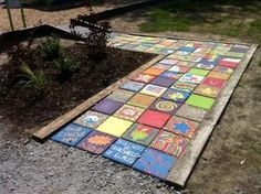 Dan, we could get the kids to paint each stepstone different.....