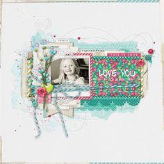 Love You scrapbook layout by kayleigh wiles at DesignerDigitals.com #shopDesignerDigitals