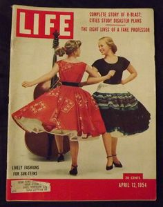 LIVELY FASHIONS FOR SUB-TEENS - Life Magazine April 12, 1954