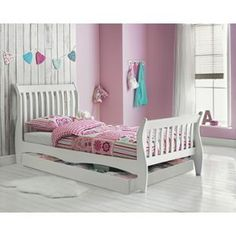 Buy Daisy Sleigh Storage Single Bed Frame - White at Argos.co.uk - Your Online Shop for Children's beds, Children's beds.