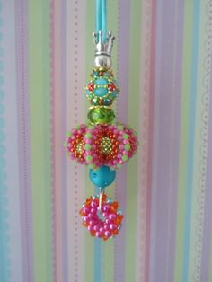 Marcia DeCoster's Urchin beaded bead with one of my Bangleini's and my own beaded bead (from Zing & Sparkle)