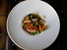 Tortiglioni con pomodoro e melenzane,zucchine e broccoli,scaglie di grana Gino D'Aquino