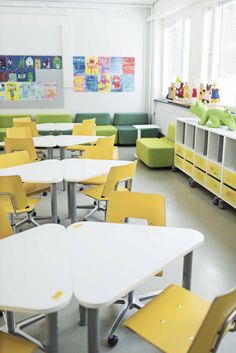Pinta tables and Grip chairs for learning environments.