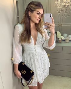 Deep V Mesh Sleeve Embellished Dress October 29 2019 at fashion-inspo Casual Dresses, Short Dresses, Fashion Dresses, Summer Dresses, Trend Fashion, Fashion Beauty, Fashion Women, Looks Style, Casual Looks