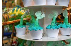 Little Mermaid mini cupcakes / Mini cupcakes da Pequena Sereia