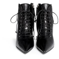 Giuseppe Zanotti Design 'Lucrezia' lace-up ankle boots ($1,155) ❤ liked on Polyvore