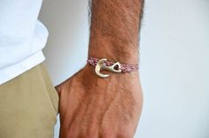Colorful Anchor Bracelet, Men's Bracelet, Anchor Jewelry, Men's Jewelry From Athens, Greece.