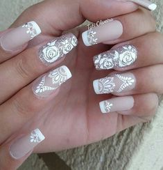 Mail Art, Engagement Nails, Lace Nails, Weights For Women, Lace Weddings, Wedding Nails, Beauty Nails, Fun Nails, Pedicure