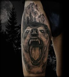Wolf and the Moon- Tattoo by Antonio Orlando- Orlando Tattoo Studio- Taurisano, Lecce - Italy